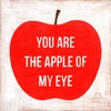 You Are The Apple Of My Eye Small Vintage Art Print on Wood