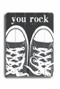 You Rock Gray Sneakers Vintage Wood Sign