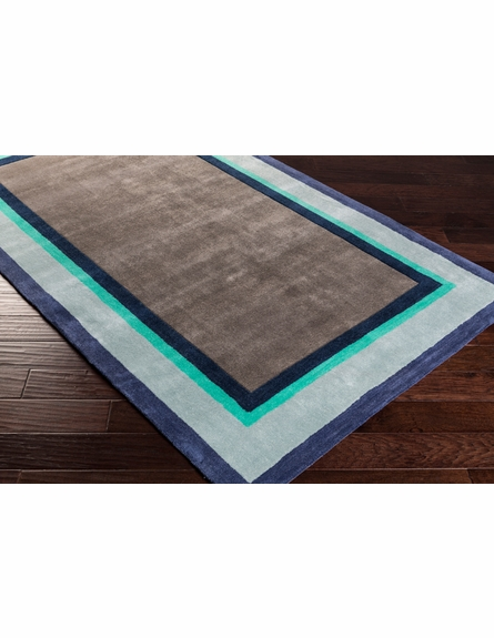 Young Life Border Rug in Ash Gray
