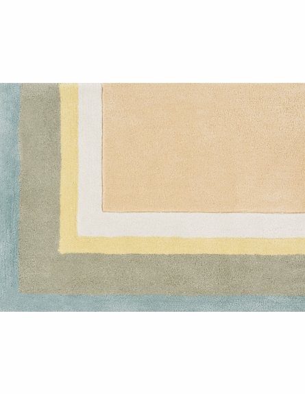 Young Life Border Rug in Taupe and Aloe