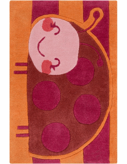 Young Life Ladybug Rug in Burnt Orange