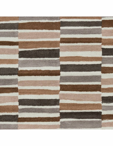 Young Life Striped Rug in Gray and Taupe