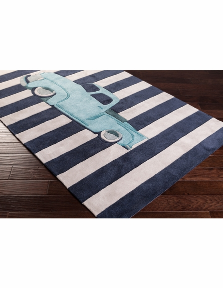Young Life Truck Rug in Navy