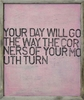Your Day Will Go Vintage Art Print with Grey Wood Frame