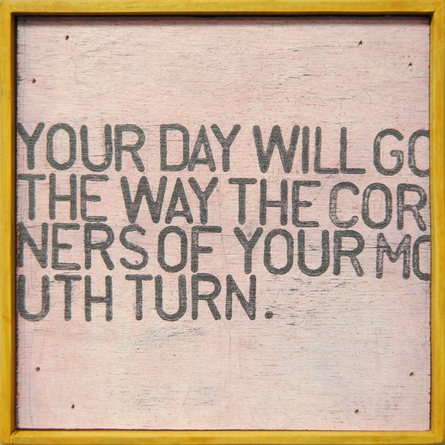 Your Day Will Go Vintage Framed Little Art Print