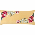 Yuri Silk Ochre Decorative Pillow