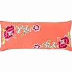 Yuri Silk Persimmon Decorative Pillow