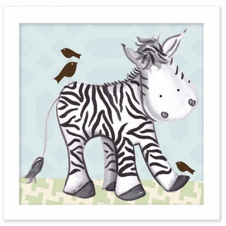 Zach Zebra in Blue Canvas Reproduction