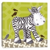 Zach Zebra in Green Canvas Reproduction