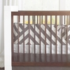 Zara Crib Bumper in Pewter