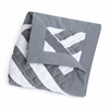 Zara Quilted Blanket in Pewter