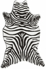 Zebra Black Shaped Rug