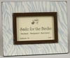 Zebra Blue Tabletop Picture Frame