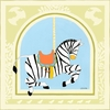 Zebra Carousel Canvas Reproduction