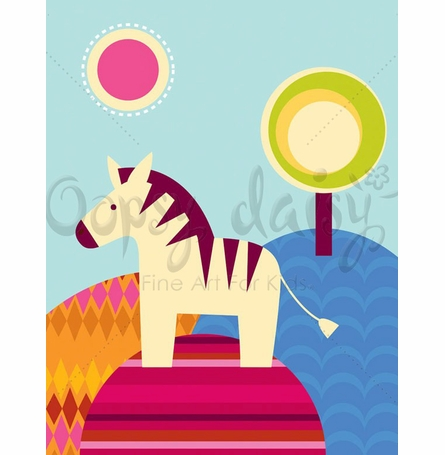 Zebra Days Canvas Wall Art