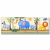 Zebra, Elephant and Lion Oh My Wall Plaques - Set of 4