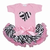 Zebra Heart Tutu Set