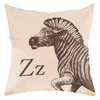 Zebra in Sand Throw Pillow