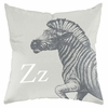 Zebra in Warm Grey Throw Pillow