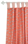 Zebra Parade in Coral Curtain Panels - Set of 2