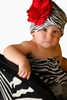 Zebra Print Hat with Red Rose