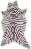 Zebra Purple Shaped Rug