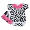 Zebra Rose Onesie and Cap Set