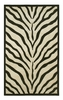 Zebra Rug in Ivory and Black