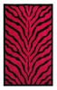 Zebra Rug in Red and Black