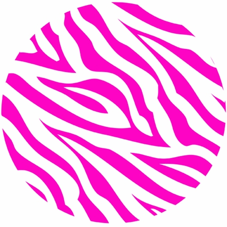 Zebra Stripe Dots in Pink Wall Sticker