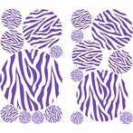 Zebra Stripe Dots in Purple Wall Sticker