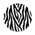 Zebra Stripe Dots Wall Sticker
