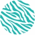 Zebra Stripe Dots Wall Sticker in Teal