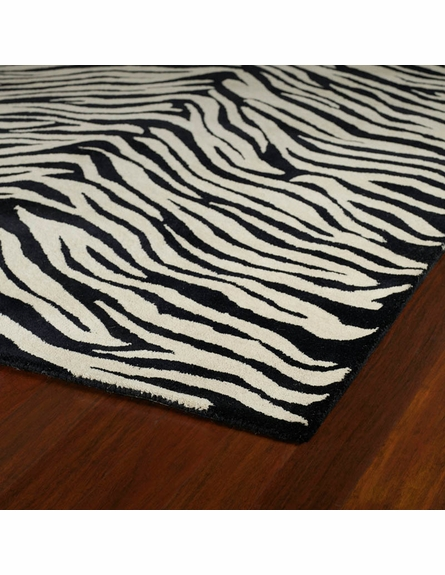 Zebra Stripes Rug in Ivory