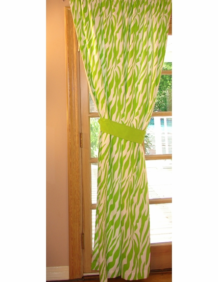 Zebra Window Panels - Set of 2