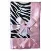 Zebra with Light Pink Baby Blanket