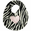 Zebra with Light Pink Heart Bib