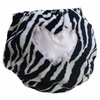 Zebra with Light Pink Heart Diaper Cover