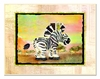 Zebra with Map Border Wall Plaque