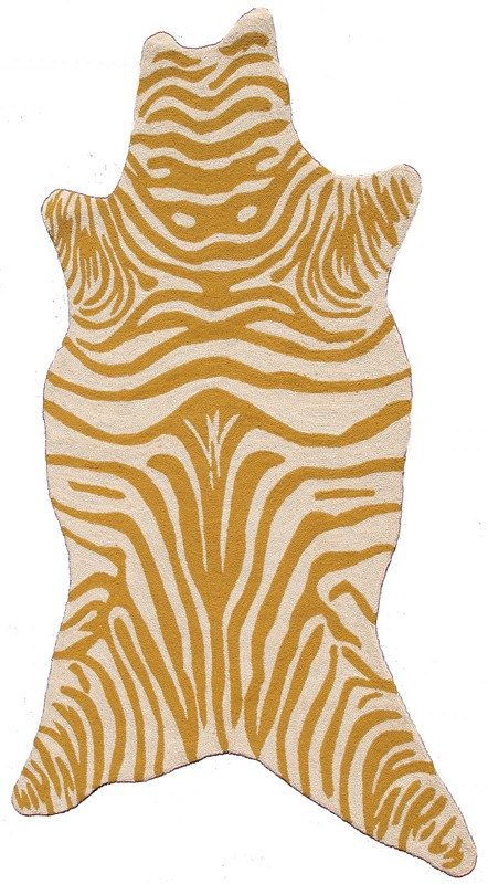 Zebra Yellow Shaped Rug By The Rug Market