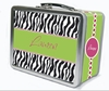 Zebra Zest Personalized Lunch Box
