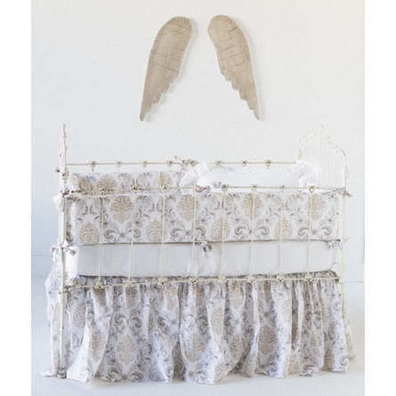 Zia Crib Skirt in Natural