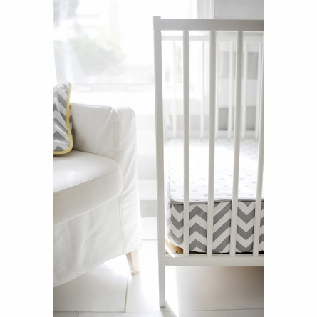 Zig Zag Baby Bumperless Crib Sheet