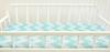 Zig Zag Baby Changing Pad Cover in Aqua