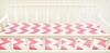Zig Zag Baby Changing Pad Cover in Hot Pink