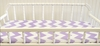 Zig Zag Baby Changing Pad Cover in Lavender