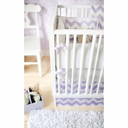 Zig Zag Baby Crib Bedding Set in Lavender