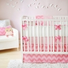 Zig Zag Baby Crib Bedding Set in Pink Sugar