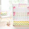 Zig Zag Baby Crib Bedding Set in Rainbow