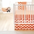 Zig Zag Baby Crib Bedding Set in Tangerine